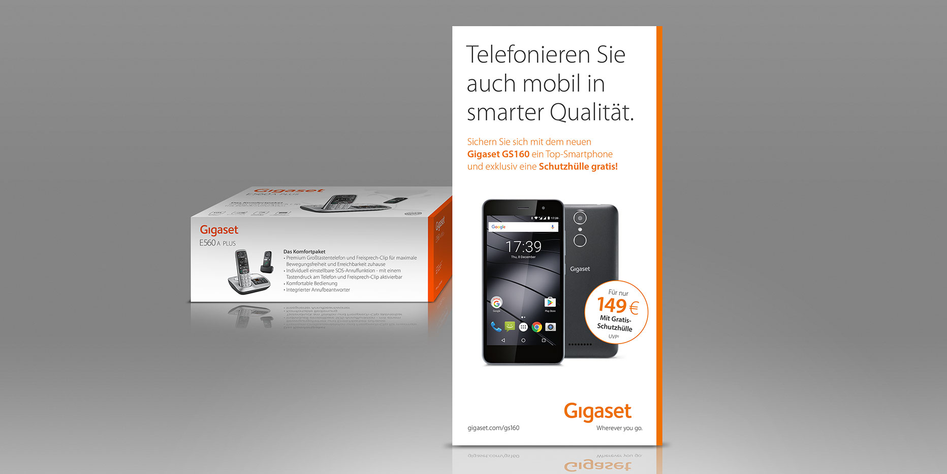 Launchkampagne Gigaset GS160: Packaging Insert