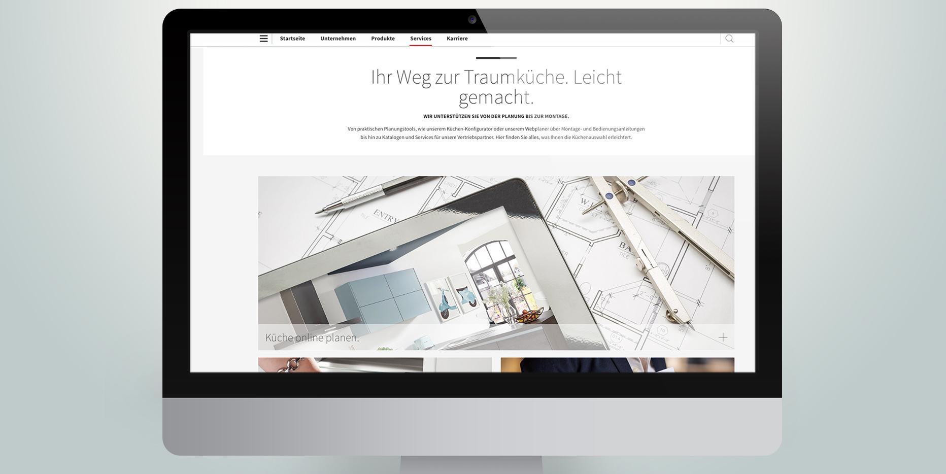 Referenz | Typo3 Website-Relaunch nobilia Küchen - straight. München