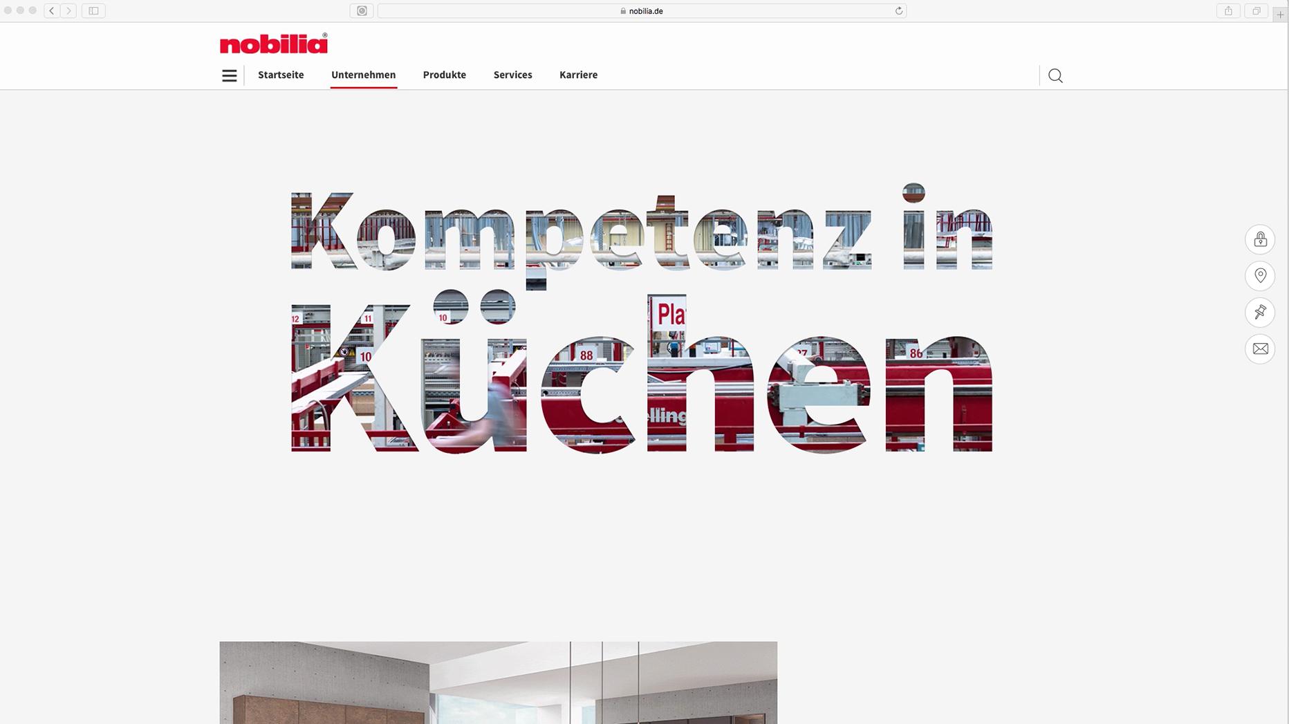 Referenz   Typo3 Website-Relaunch nobilia Küchen - straight. München