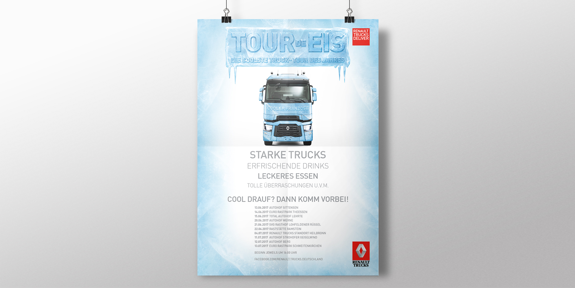 Roadshow-Marketing für Renault Trucks: Poster